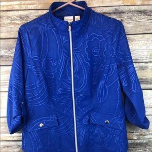 Zenergy Chicos Royal Blue Shirt Jacket Size 0 XS S